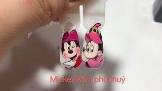 Paint the nails | 캐릭터 네일 | nail vẽ cặp đôi chuột Mickey và Mini phù thủy