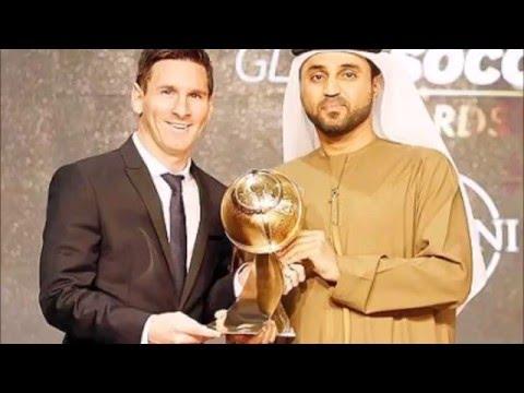 Lionel Messi in Dubai 2015 | Wins the Globe Soccer Awards 2015 HD