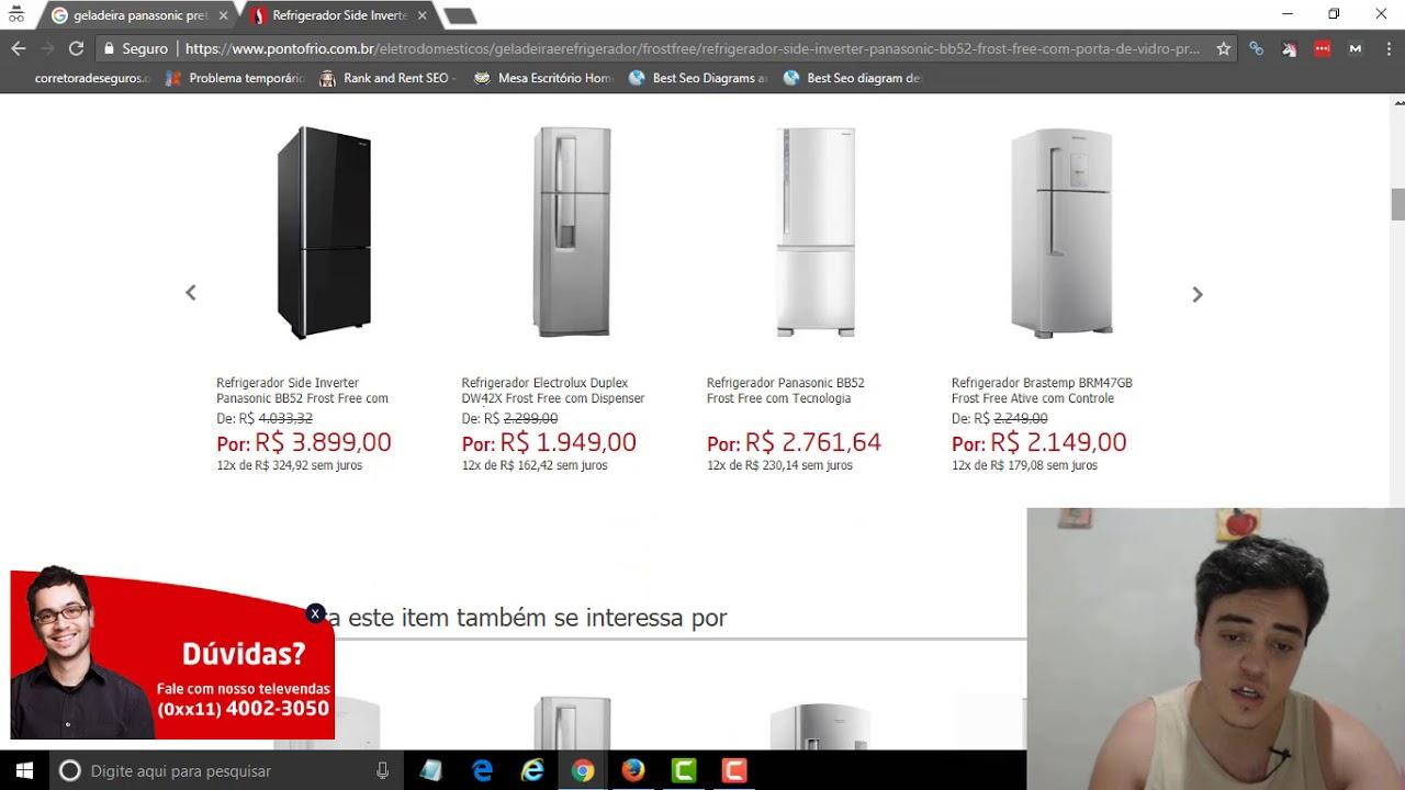 018f9b7d613c Qual a Melhor Geladeira Panasonic Preta de Vidro  Refrigerador Panasonic  BB52 Black Glass