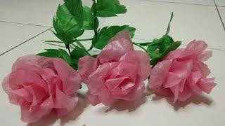 DIY Bunga Mawar dari Plastik Kresek | Roses from plastic bag