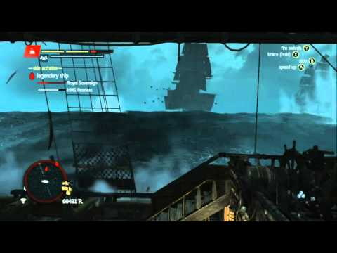 Assassin's Creed 4 Black Flag - Legendary Ship Battle - Royal Sovereign & HMS Fearless