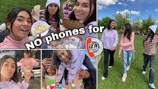 Living Without a Phone for 24 Hours | GEM Sisters