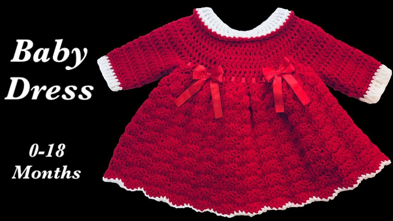crochet baby dress christmas holiday style 9 12 months fast and easy by crochet for baby 160 - 12 Month Christmas Dress
