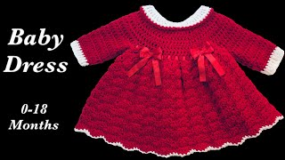 Crochet baby dress | Christmas | Holiday style - 9-12 months fast and easy by Crochet for Baby #160