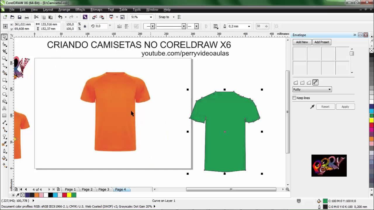 Como Criar Camisetas Com Corel Draw X6