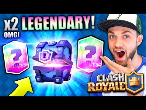 MY FIRST EVERY LEGENDARY CARDS (x2)! - Clash Royale #2