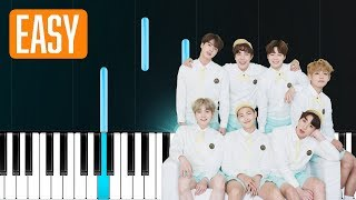 "BTS - ""Airplane pt2"" 100% EASY PIANO TUTORIAL"