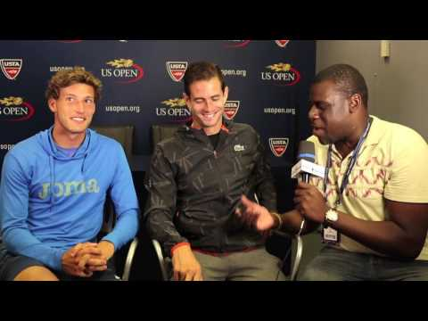 Pablo Carreño Busta & Guillermo Garcia-Lopez interview; 2016 US Open (09.08.16)