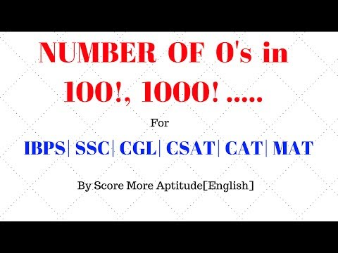 Finding Number of Zeros in 100 / 1000 / 10000 Factorial