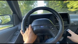 Driving The 1994 Ford Explorer 4.0l Sport 5 Speed Manual Transmission