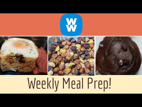 WW WEEKLY MEAL PREP | CHOCOLATE MUFFINS | HASHBROWN BFAST CUPS | WEIGHT WATCHERS!