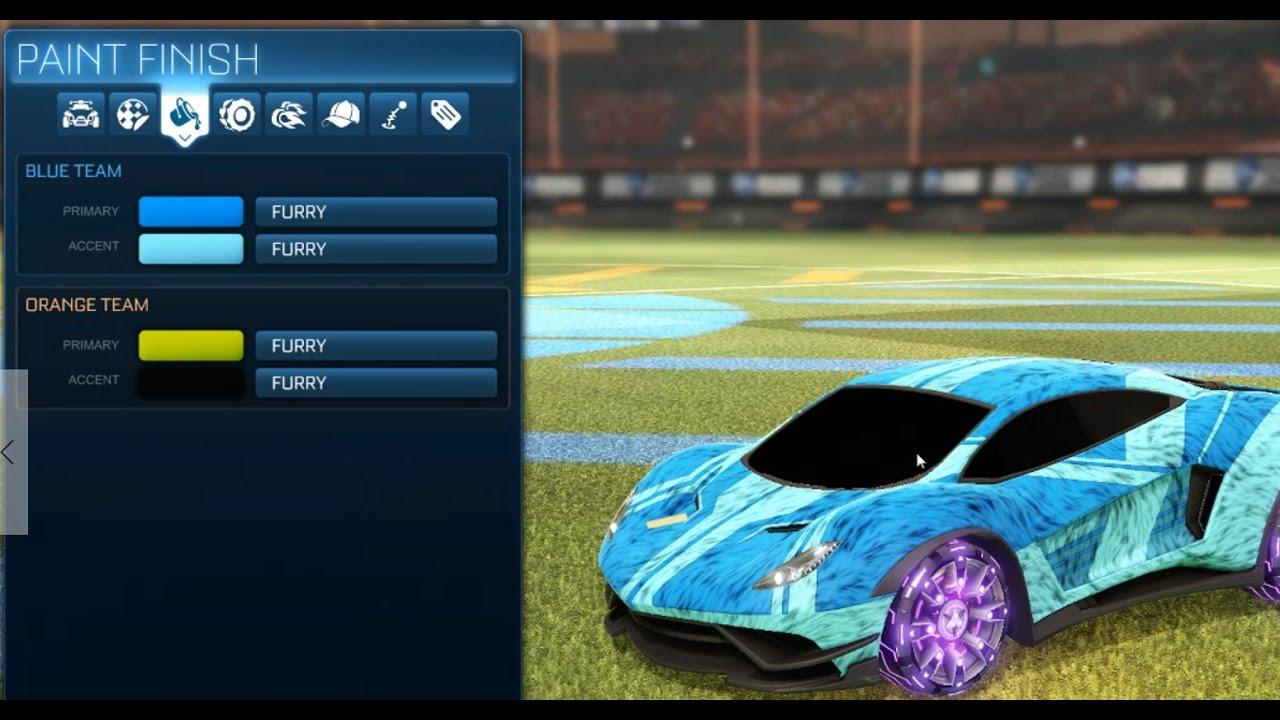 Rocket League Paint Colors