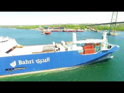 DJI Phantom 3 Aerial Video - BAHRI TABUK at the Port of Halifax (June 27, 2016)