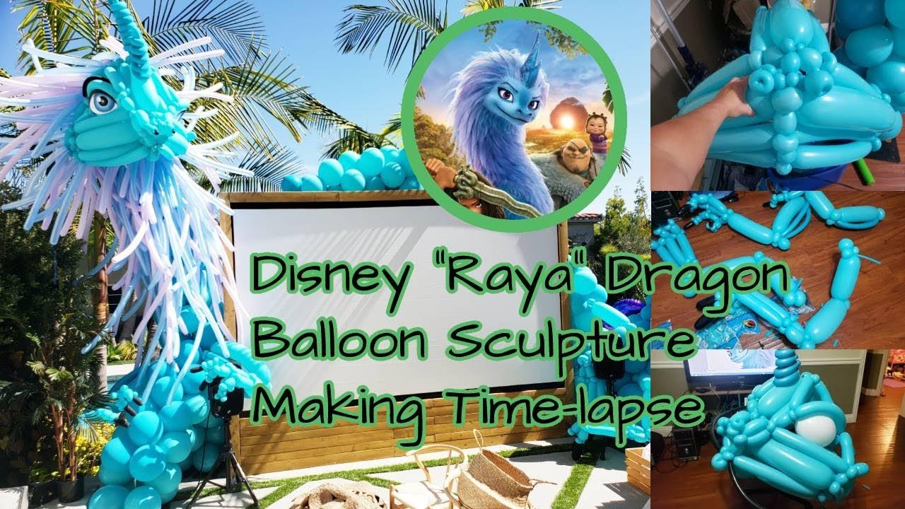 Disney Raya Dragon Balloon SculptureㅣHow to make a dragon balloon sculptureㅣPicture-lapse