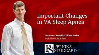 Important Changes in VA Sleep Apnea