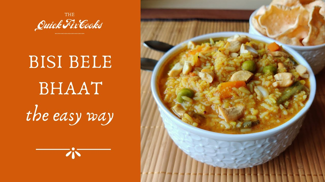 Bisi Bele Bhaat the Easy Way | Quick, No Onion and No Garlic Bisibelebhat by the Quick Fix Cooks