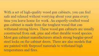 Wood Gun Cabinets: Keep Your Collection Safe