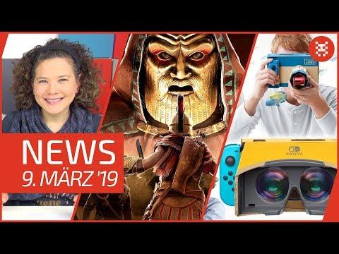 NEWS Nintendo Labo VR - Tetris 99 - Assassin's Creed Odyssey - GWENT - gamescom Tickets