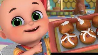 Let's Make a Yummy Snacks | Hot Cross Buns + More Nursery Rhymes & Kids Songs - Jugnu Kids