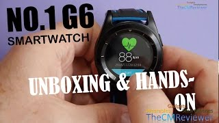 NO.1 G6  - Review - Smartwatch - Unboxing und Features (Deutsch)