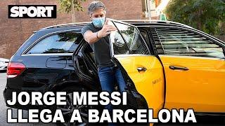 La llegada de JORGE MESSI a BARCELONA