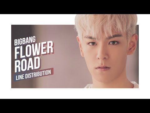 BIGBANG - Flower Road Line Distribution (Color Coded)   빅뱅 - 꽃 길