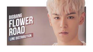BIGBANG - Flower Road Line Distribution (Color Coded) | 빅뱅 - 꽃 길 Video