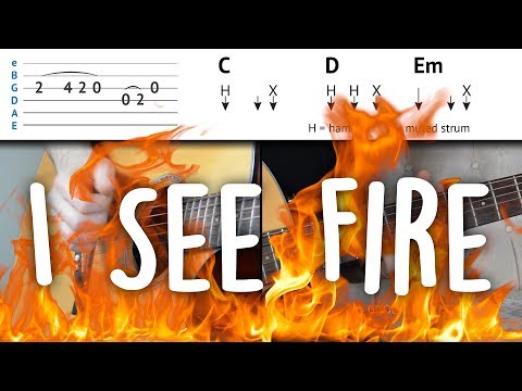 I See Fire - Easy Guitar Tutorial | Ed Sheeran - Easy To Understand & step-by-step | How To Play