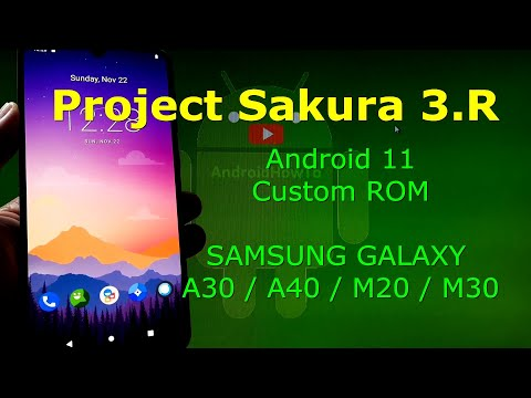 Project Sakura 3.R Android 11 for Samsung Galaxy A30 / A40 / M20(M20LTE) / M30(M30LTE)