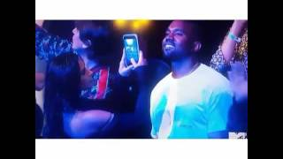rihanna had kanye west hypnotized at vmas 2016