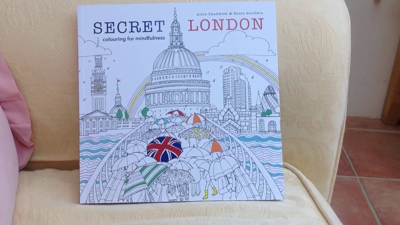 Secret London Colouring Book