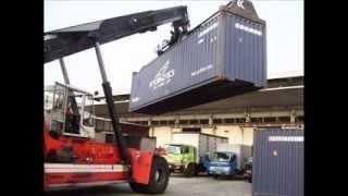 Kegiatan Bongkar Muat Export Import di Pelabuhan Tanjung Priok - Jakarta