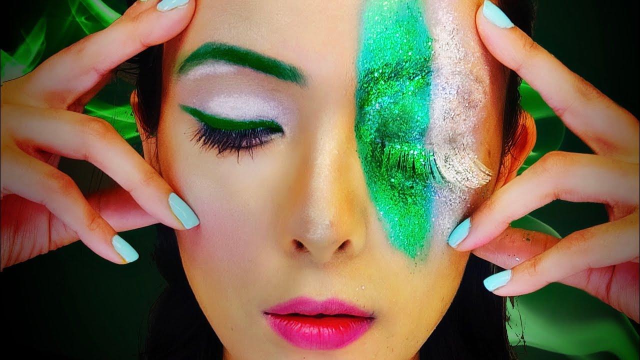 Pakistanindependencedaymakeup Creative Independence Day Makeup Look Pakistan Makeup On Face Youtube