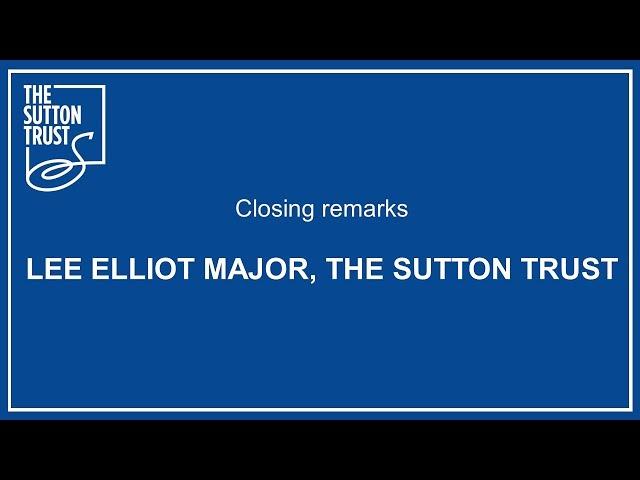 Closing remarks Dr Lee Elliot Major #BetterApprenticeships