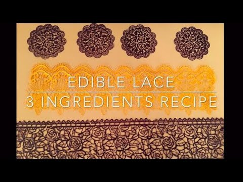 3 Simple Ingredients Lace | No Tylose | Eggless | #01
