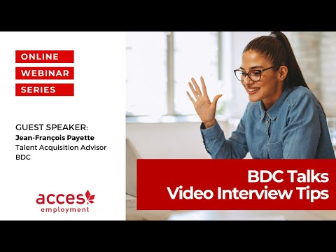 BDC Talks  Video Interview Tips