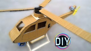 dIY Cardboard Helicopter (VERY EASY) | The DIY Channel