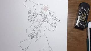 文ストの与謝野晶子をコピックで描いてみました.