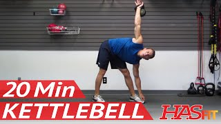 HASfit's 20 Minute Kettlebell Workouts - Kettle Bell Exercise Routine - Kettlebell Training Workout