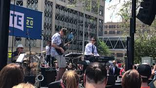 6/9/19 Pete Buttigieg joins band on stage for a jazz piano set