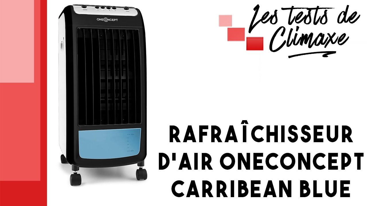 test d 39 un rafra chisseur d 39 air 3 en 1 oneconcept carribeanblue youtube. Black Bedroom Furniture Sets. Home Design Ideas