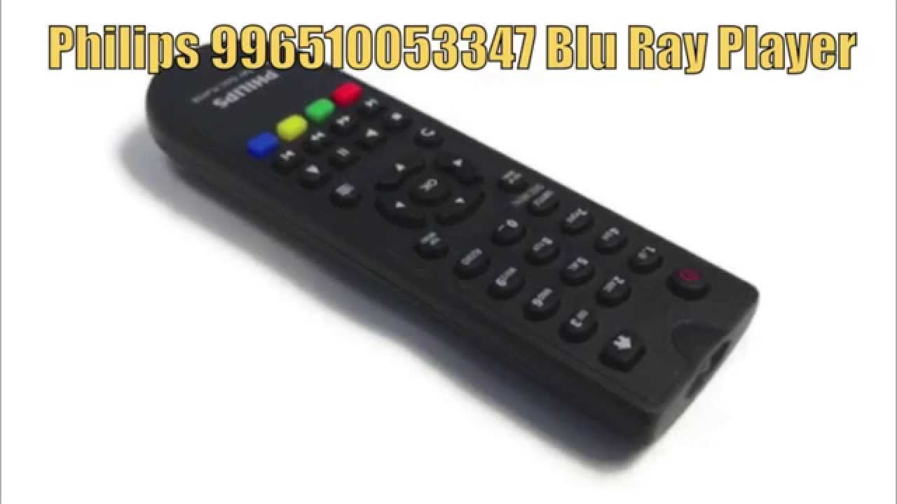 Lækker PHILIPS 996510053347 Blu-Ray DVD Player Remote Control - www SS-64