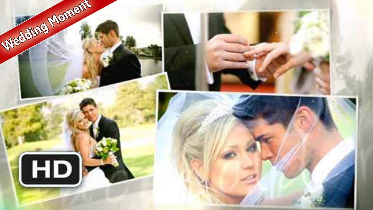 FREE Adobe After Effects Template AE Project Wedding Moment - Adobe after effects slideshow templates