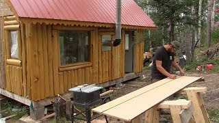 Alaska Cabin Project   ................ Kitchen Cabinets, Counter Top, & Sink