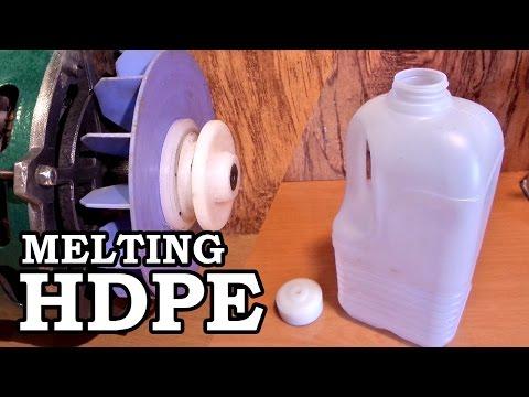 Making Plastic Rod Stock - Melting HDPE Milk Jugs