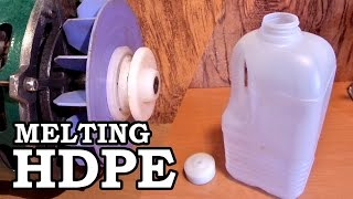 making plastic rod stock melting hdpe milk jugs