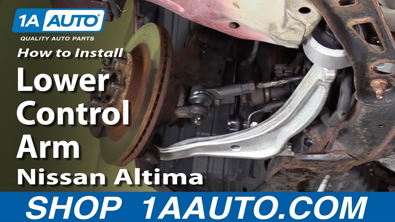 hight resolution of how to install replace front lower control arm 2002 06 nissan altima youtube