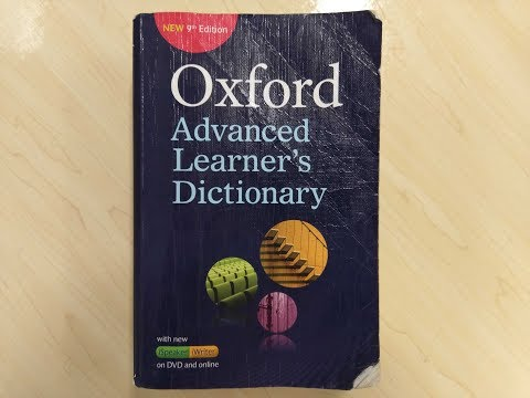 Oxford Advanced Learner's Dictionary (1 Of 3) Pronounced