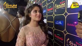 BizAsia meets Sajal Ali at the Hum Awards 2018 Red Carpet