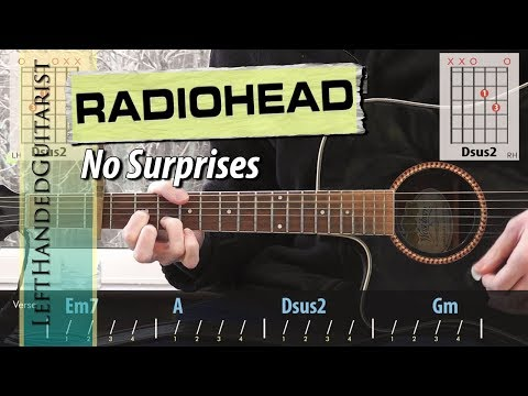 Radiohead - No Surprises | acoustic guitar lesson